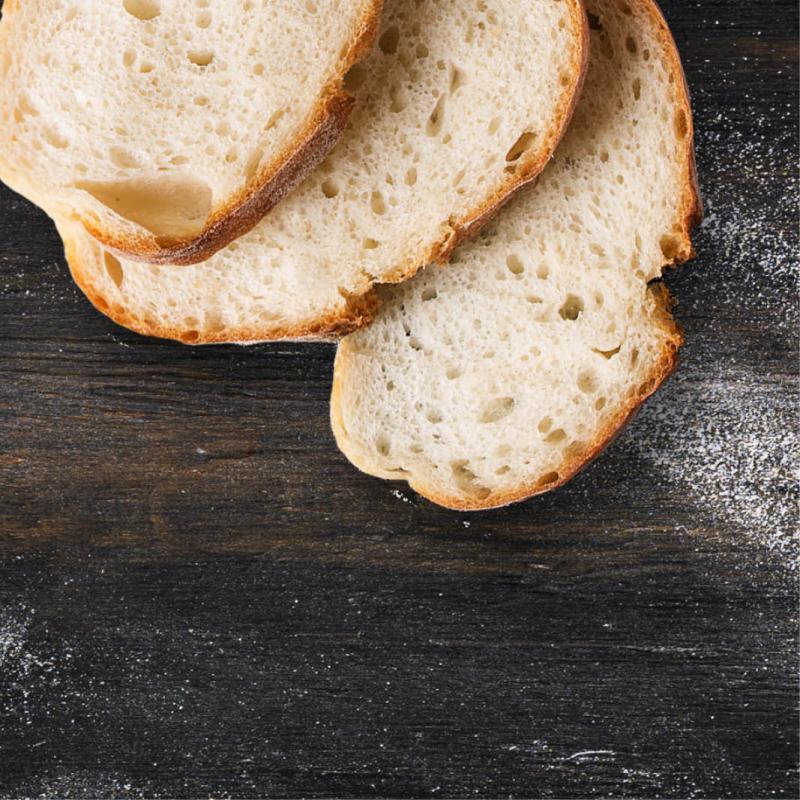 hoeveel gram is 1 snee brood